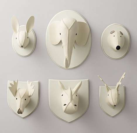 Felt Taxidermy Accessories - This Collection of Children's Wall Decor References Wildlife