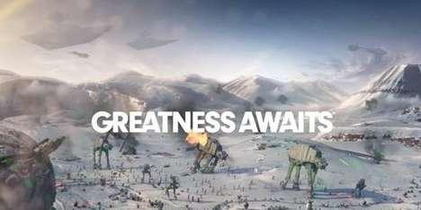Nostalgic Galactic Gaming Ads