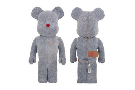 Denim-Clad Toy Bears