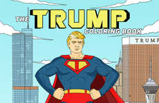 Quirky Politician Coloring Books - This Adult Coloring Book Pokes Fun at Donald Trump