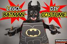 Toy-Themed Superhero Costumes - This LEGO Halloween Batman Costume is Adorable and Fierce