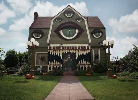 Toothsome Halloween Houses - This Artist Transformed Her Home into a Terrifying Monster