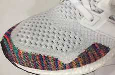 Rainbow-Accented Sneakers - The Formerly White adidas Ultra Boost Now Features Multi-Colored Accents