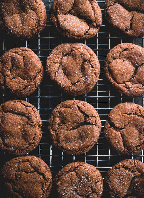 Smoky Ginger Molasses Cookies - These Spicy Cookies are Made Using Whole Cardamom Pods