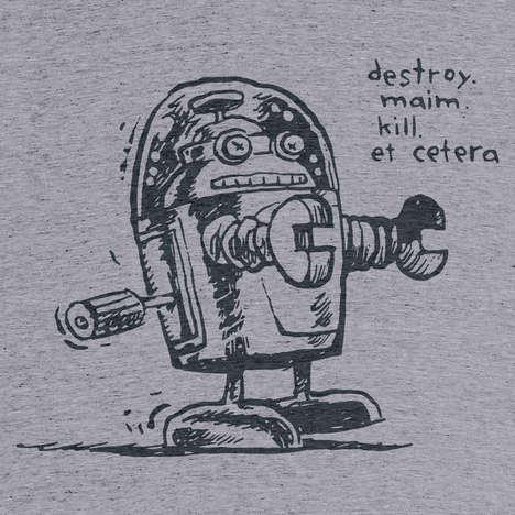 Doodled Robot T-Shirts