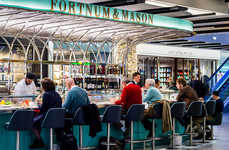 Luxe Airport Champagne Bars - Fortnum's Has Brought Its Signature Food and Drink to Heathrow Airport