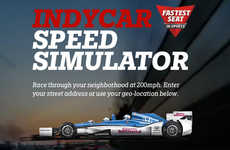 Virtual Racing Simulators - Honda's 'IndyCar Speed Simulator' Lets Users Speed Down Local Streets