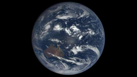 Earthly Imagery Websites - The DSCOVR Service Offers Satellite Photos of the Earth Updated Daily