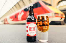 Optimistic Pint Glasses - The 'Hoptimist' Pint Glass is Specially Made to Always Be Half Full