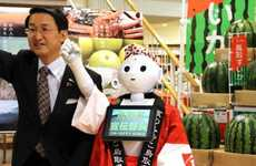 Friendly Retail Robots - Pepper the Robot Suggests Wine Pairings and Interacts with Shoppers