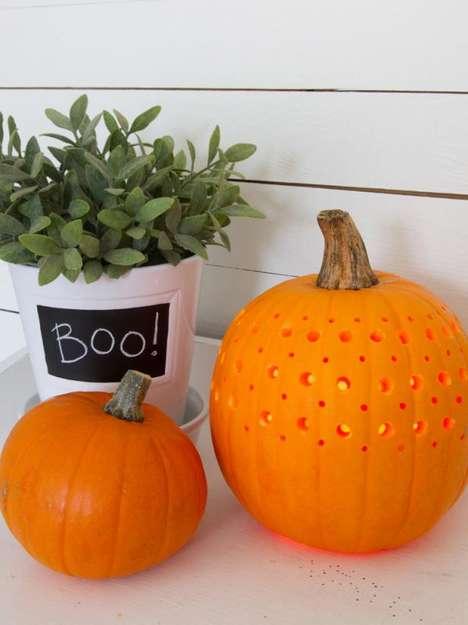 DIY Fretwork Pumpkins