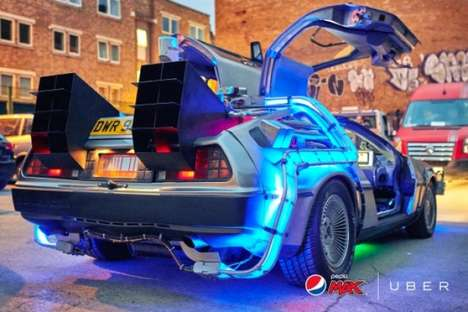 Futuristic Taxi Services - Pepsi and Uber Offered DeLorean Rides on Back to the Future Day