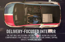 Pizza-Heating Delivery Cars - Domino's New DXP Cars Have 1 Seat to Make Room for its Warming Oven