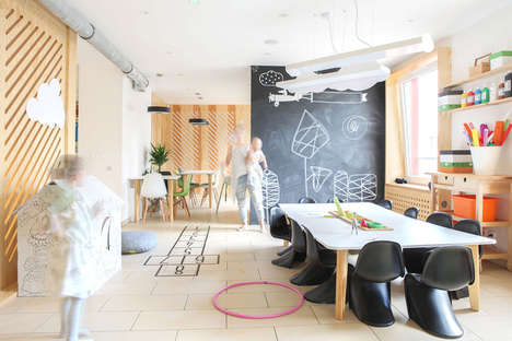 The '28 For' Coffee Shop Features Children's Play Areas & Walls to Draw On