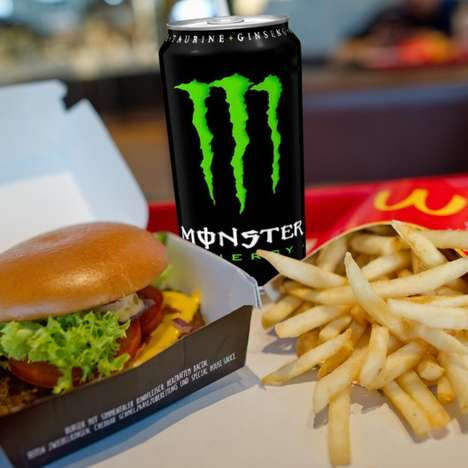 Fast Food Energy Drinks - This McDonald's Monster Combo is a Boost of Energy with a Burger