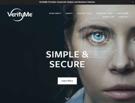Biometric Identification Platforms - VerifyMe's System Measures Faces, Voices, Retinas and More