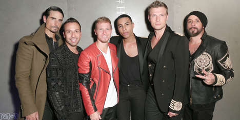 Boy Band Runway Shows - The Backstreet Boys Performed in the Finale of the H & M and Balmain Show