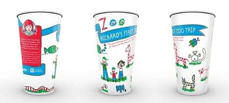 Kid-Drawn Drink Cups