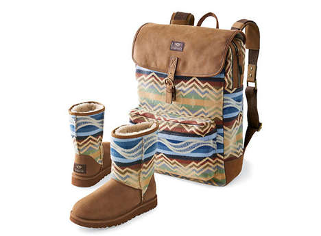 Co-Branded Blanket Fashion - Pendleton Woolen Mills Partnered with Ugg & Levi to Create Hip Looks