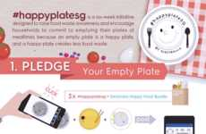 Plate-Clearing Campaigns - The 'Happy Plate' Campaign by Electrolux Discourages Food Waste