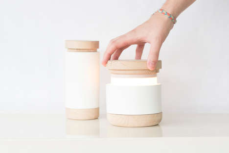 Twist-Open Cylinder Lamps