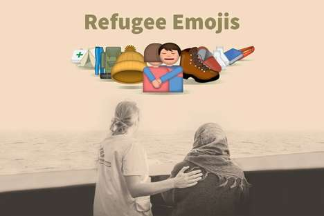 Refugee-Supporting Emojis - The 'Refugee Emojis' Helps Users Donate to a Good Cause