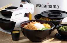 Refined Takeout Packaging - Wagamama's Neatly Divided Takeout Boxes are Sophisticated