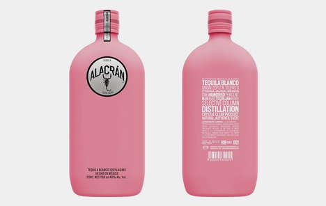 Cancer Awarness Tequila Bottles