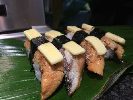 Buttery Eel Sushi - A Sushi Chain in Osaka is Selling Unagi Sushi Topped with Strips of Butter