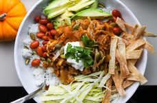 Autumnal Burrito Bowls - This Mexican-Inspired Dish is Transformed by Pulled Pork and Pumpkin