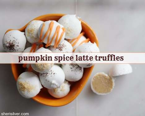 Seasonal Pumpkin Truffles - This Autumnal Dessert is the Pumpkin Spice Latte in Truffle Form