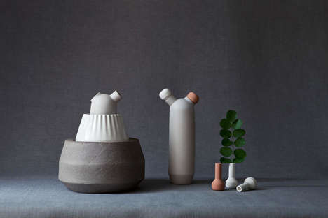 Plant Science Decor - The Biophilia Vase Collection is an Extension of the Plants It Carries