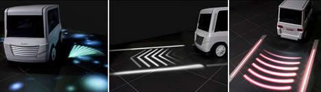 Path-Projecting Car Signals - Mitsubishi is Designing Turn Signals That Warn Pedestrians & Cyclists