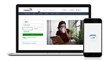 Swipe-Authentication Systems - Capital One Eliminates Security Questions with a New Mobile Sign-in