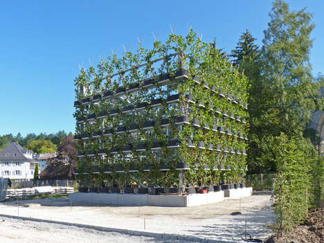 Botanical Living Buildings - This Design System Has Buildings Intertwined with Trees and Plants
