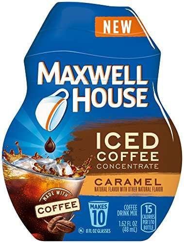 Personalized Caffeine Packets - The Maxwell House Iced Coffee Concentrate Products Suit Tastes