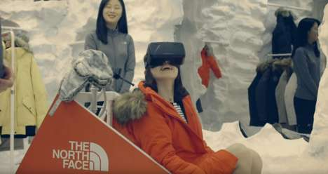 Indoor Sledding Stunts - North Face's Dog Sledding VR Experience Launches a Real-Life Race