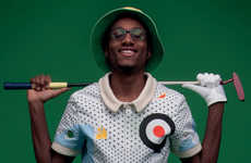 Quirky Golf Jumpsuits - Jason Page's Alternative Golf Suits Feature Bird Heads & Funny Golf Swings