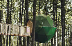 Serene Bird's Nest Hotels - This German Robin's Nest Hotel is Suspended in the Trees and Wi-Fi-Free