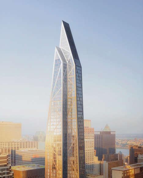 Prismatic Glass Skyscrapers