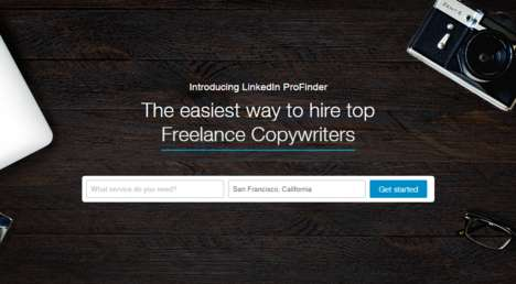 Freelancer Networking Plaforms - Linkedin's 'ProFinder' Connects Companies to Freelance Workers