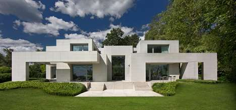 Asymmetrical Stone Homes