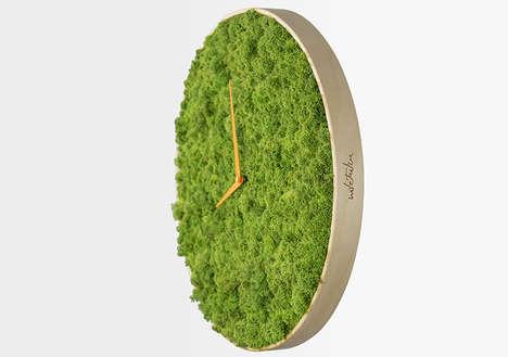 Surrealist Moss Clocks