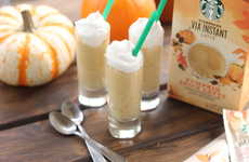 Latte Pudding Shots - These Alcoholic Pumpkin Spice Latte Shooters are Made Using Instant Coffee