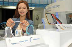 Contouring Flexible Batteries - Samsung's 'Stripe' and 'Band' Batteries Make Wearables Last Longer