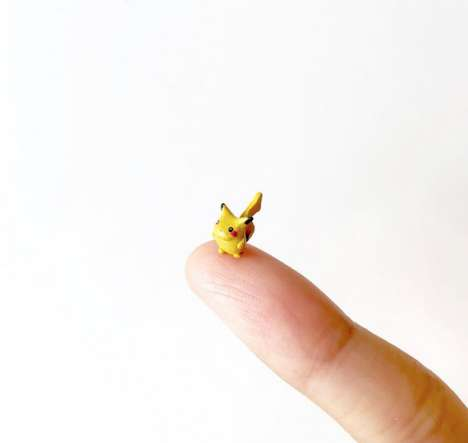 These Miniature Pokemon Sculptures are Small Enough to Fit on a Finger