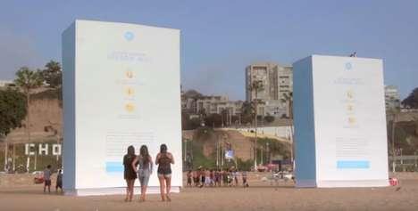 Connected Skin Cancer Billboards