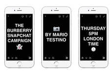 Photo-Sharing Fashion Editorials - Burberry's Newest Ads Were Shot by Mario Testino Live on Snapchat