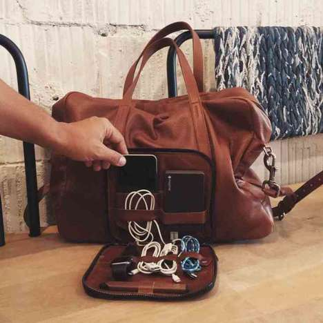 WiFi-Enabled Leather Bags - The 'Voyager' Smart Travel Bag Acts as a Travelling Hotspot