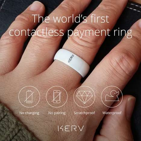 Contactless Payment Jewelry - The Kerv Ring Works With NFC Technology for Seamless Transactions